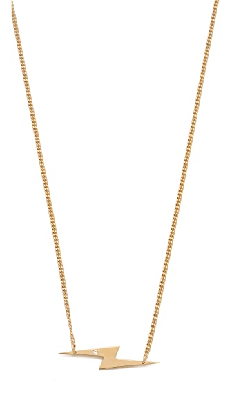 Jennifer Zeuner Jewelry Bolt Diamond Necklace