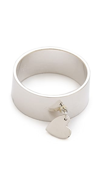 Jennifer Zeuner Jewelry Cigar Band Heart Ring