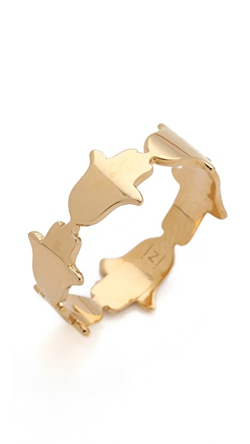 Jennifer Zeuner Jewelry Hamsa Eternity Band Ring