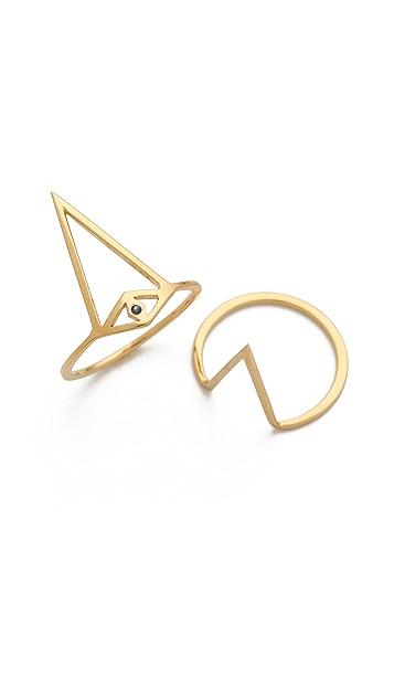 Jennifer Zeuner Jewelry Split Eye Sapphire Ring