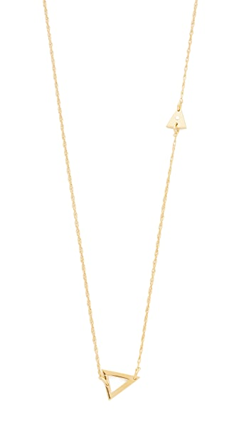 Jennifer Zeuner Jewelry Sasha Diamond Necklace In Gold