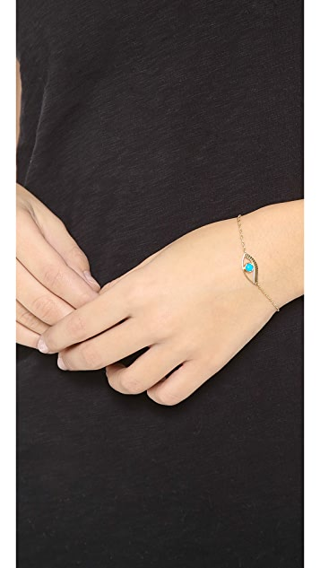 Jennifer Zeuner Jewelry Priscilla Mini Eye Bracelet