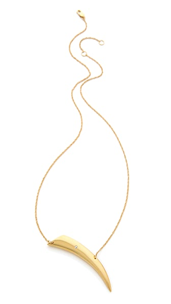 Jennifer Zeuner Jewelry Intergrated Horn Diamond Necklace