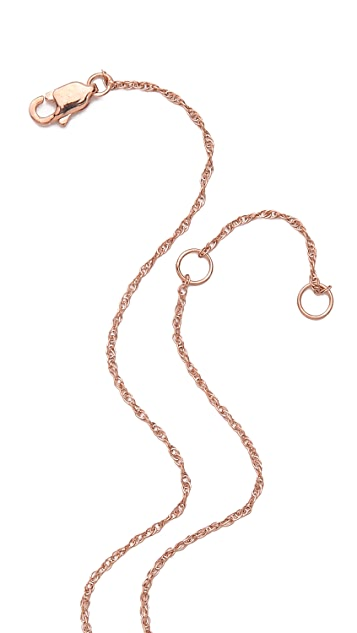 Jennifer Zeuner Jewelry Horizontal Small Horn Necklace