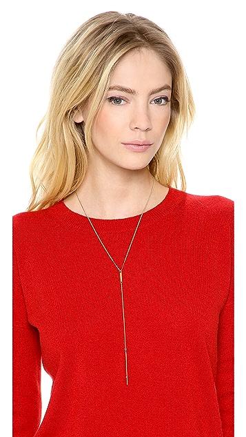Jennifer Zeuner Jewelry Double Diamond Lariat Necklace