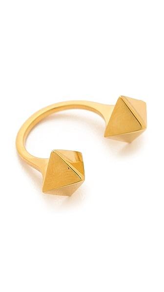 Jennifer Zeuner Jewelry Double Stud Wrap Ring