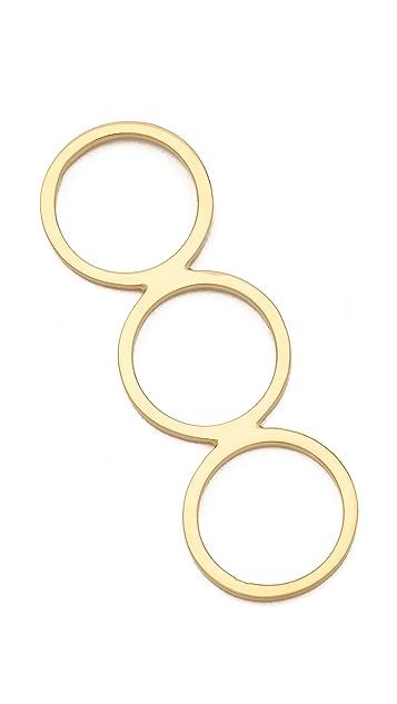 Jennifer Zeuner Jewelry Triple Band Diamond Ring