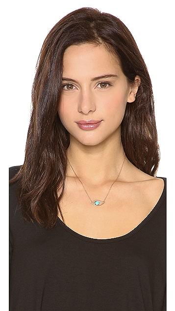 Jennifer Zeuner Jewelry Turquoise Eye Necklace