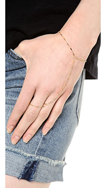 Jennifer Zeuner Jewelry Madrid Hand Chain