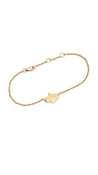 Jennifer Zeuner Jewelry Mini Hamsa Bracelet