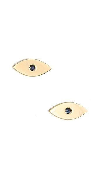 Jennifer Zeuner Jewelry Eye Stud Earrings