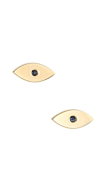 Jennifer Zeuner Jewelry Eye Stud Earrings