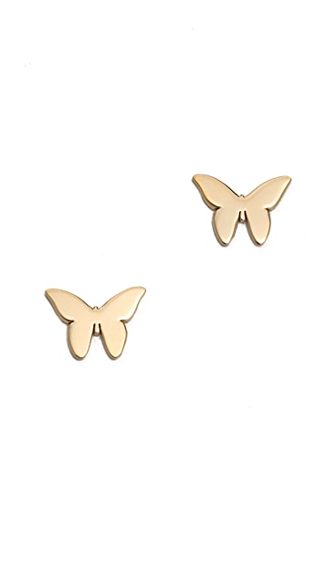 Jennifer Zeuner Jewelry Butterfly Earrings