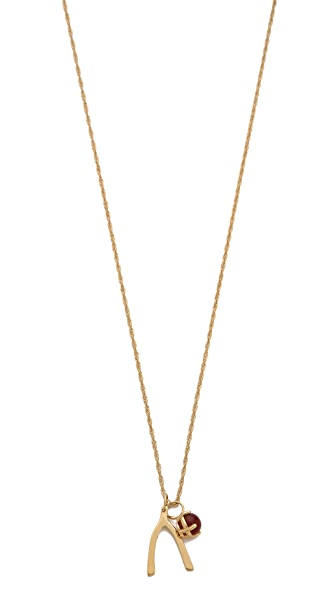 Jennifer Zeuner Jewelry Scarlet Wishbone Necklace