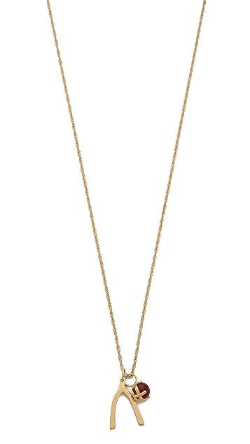 Jennifer Zeuner Jewelry Scarlet Wishbone Necklace