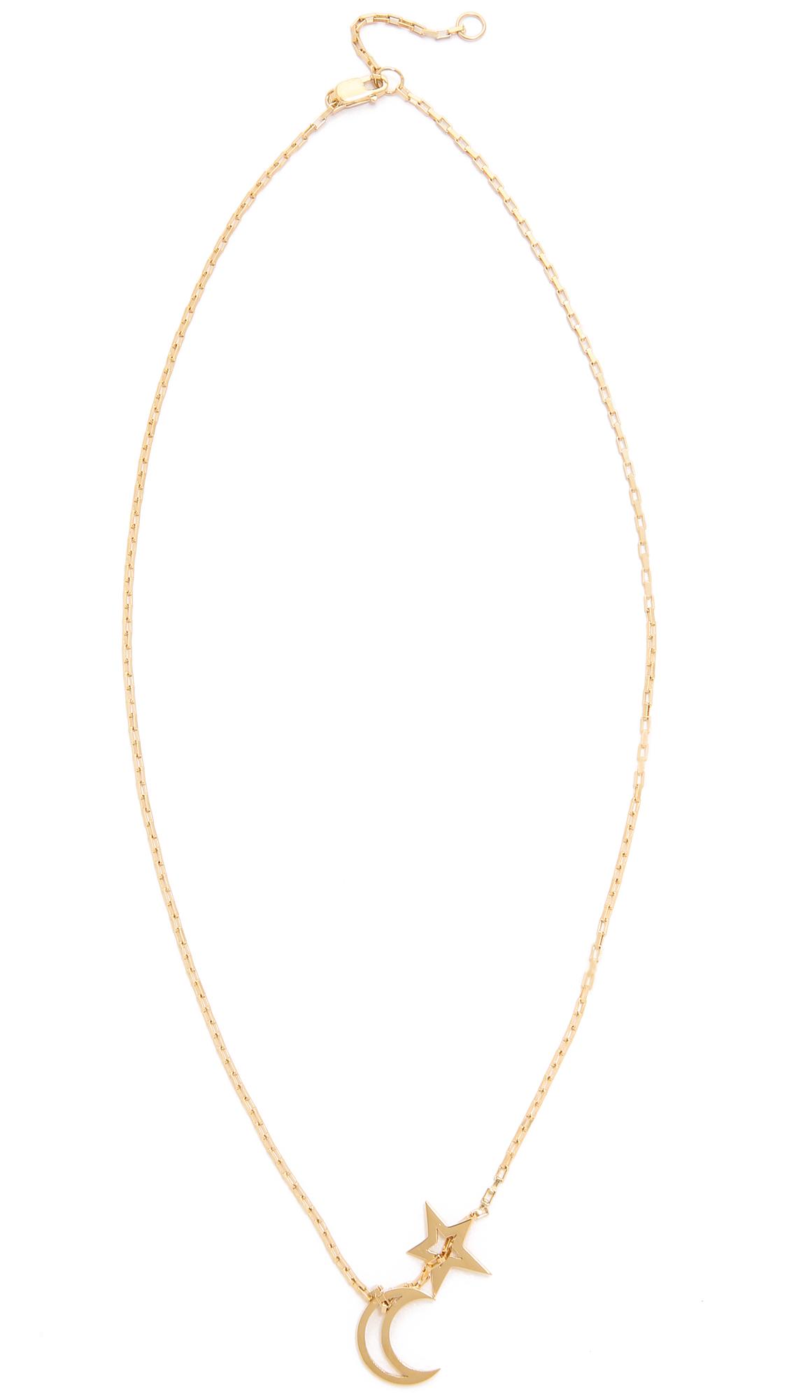 60fc6cc9d Jennifer Zeuner Jewelry Open Moon & Star Necklace   SHOPBOP