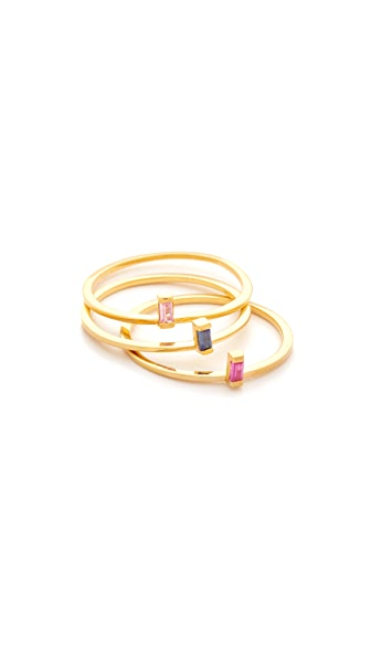 Jennifer Zeuner Jewelry Wren Colored Ring Set