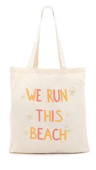Zhuu We Run This Beach Tote