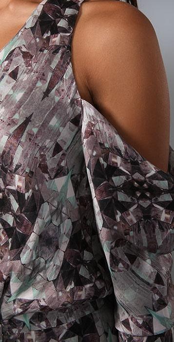 Zimmermann Fragment Mirror Wrap Dress