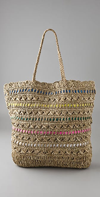 Zimmermann Straw Bag with Ribbon