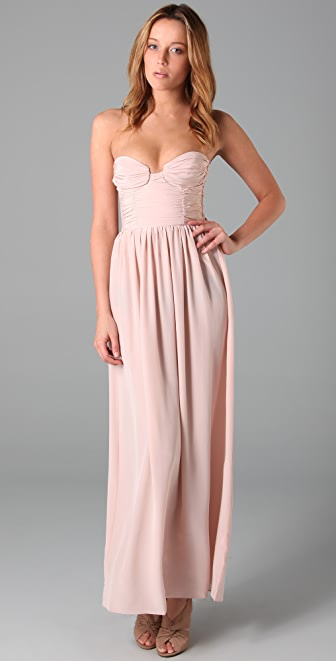 Zimmermann Ruched Bustier Long Dress