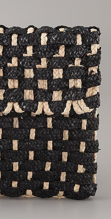 Zimmermann Woven Straw Clutch