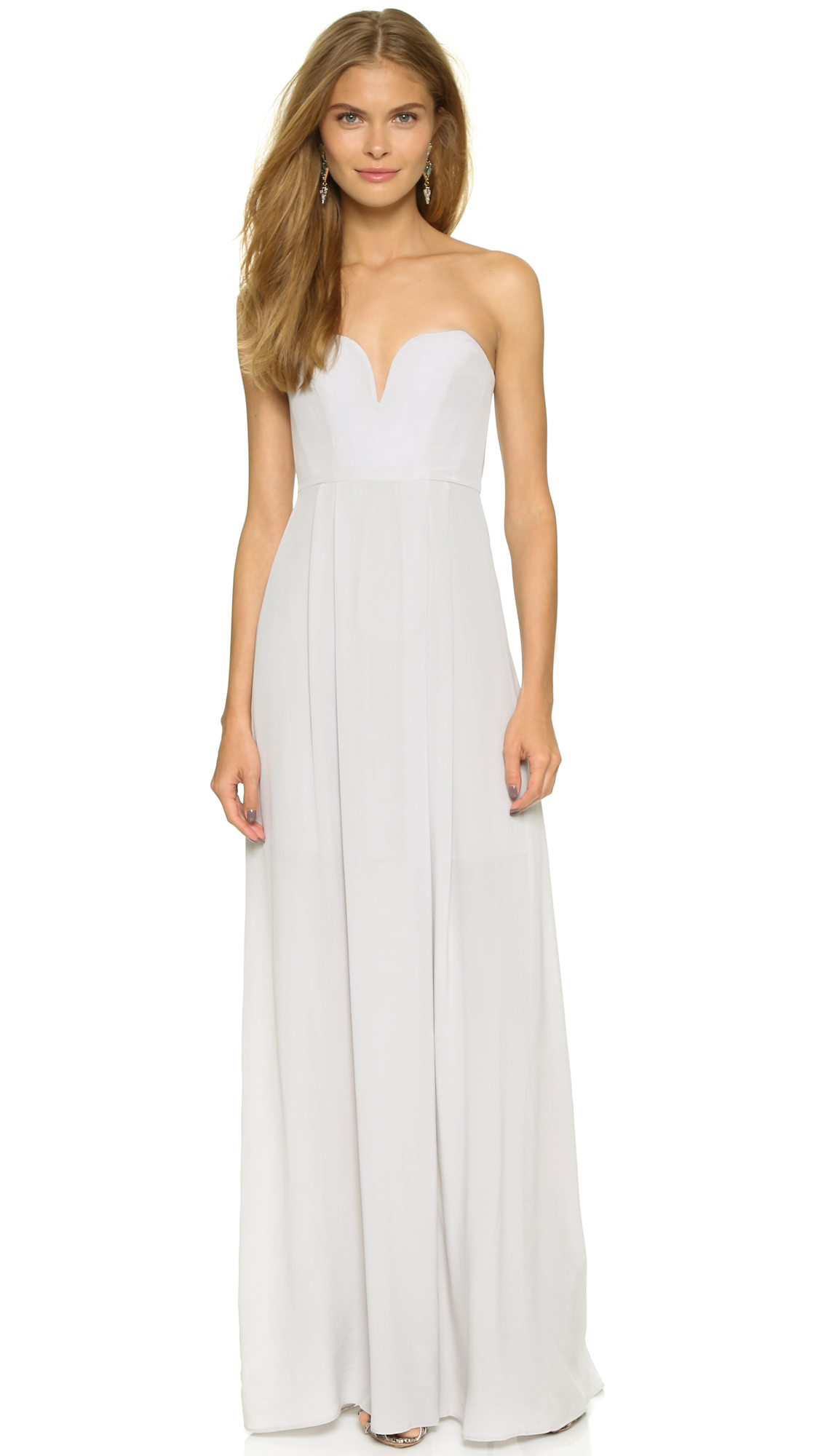 Zimmermann Strapless Maxi Dress - Mist