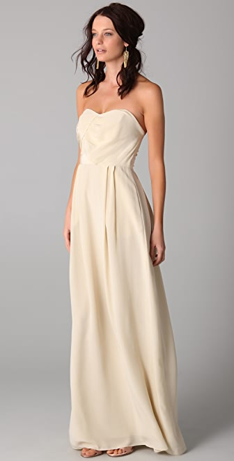 Zimmermann Strapless Tucked Maxi Dress