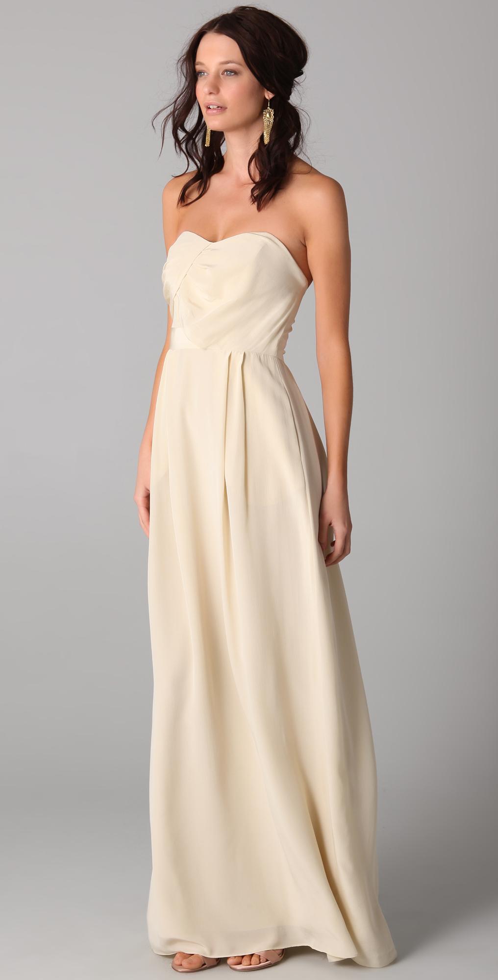 acf229ddb9b6 Zimmermann Strapless Tucked Maxi Dress | SHOPBOP