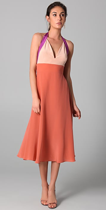 Zimmermann Contrast Halter Dress