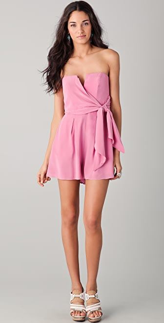 Zimmermann Strapless Tie Playsuit