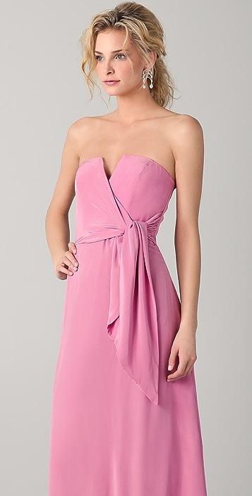 Zimmermann Strapless Draped Maxi Dress
