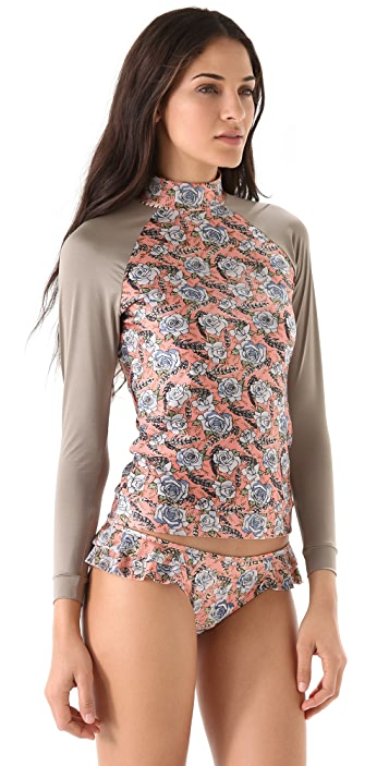 Zimmermann Hip Length Rash Guard Top