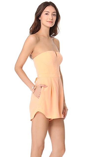 Zimmermann Laced Strapless Playsuit