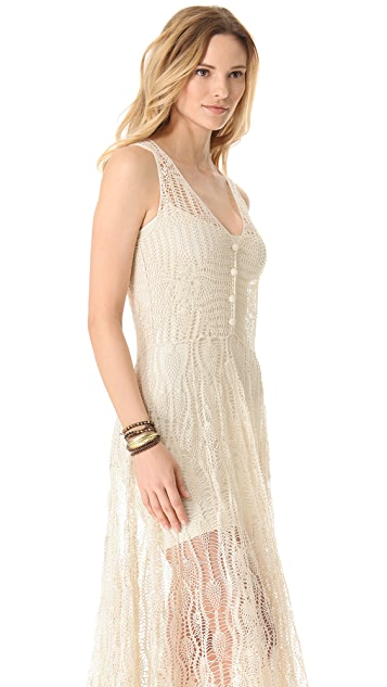 Zimmermann Elixir Crochet Cover Up Dress