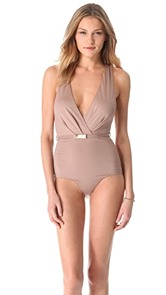 Zimmermann Flourishing Bow One Piece Swimsuit