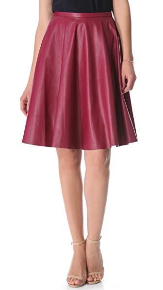 Zimmermann Dazed Leather Skirt