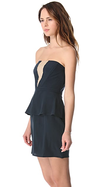 Zimmermann V Peplum Dress