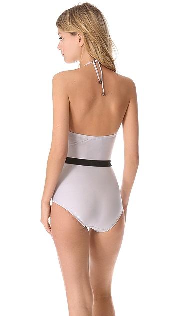 Zimmermann Vapor Drape One Piece Swimsuit