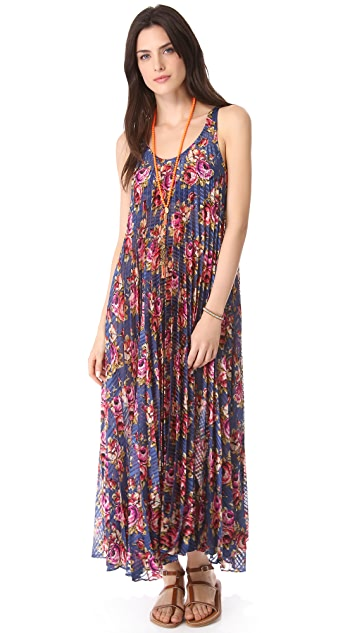 Zimmermann Pleated Cover Up Maxi Dress