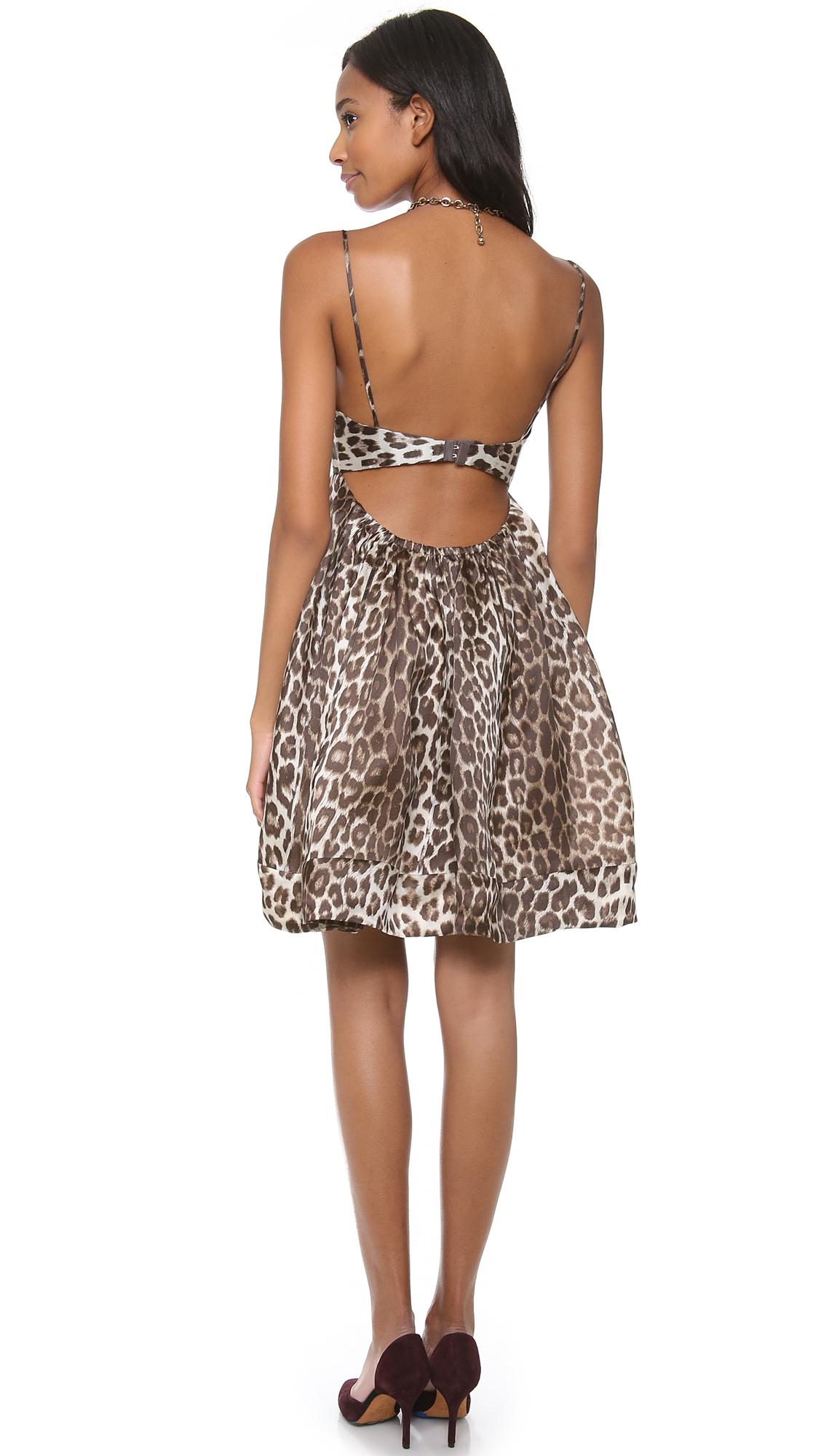 Zimmermann Honour Leopard Umbrella Dress  0193428c6
