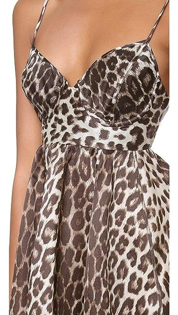Zimmermann Honour Leopard Umbrella Dress