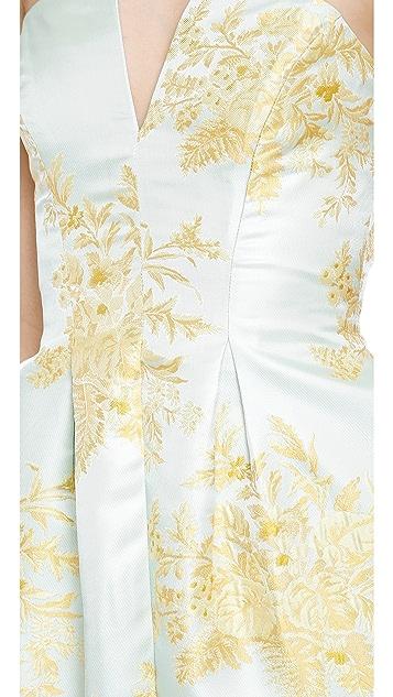 Zimmermann Valiant Inverted Brocade Dress