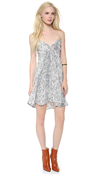 Zimmermann Strapless Python Dress