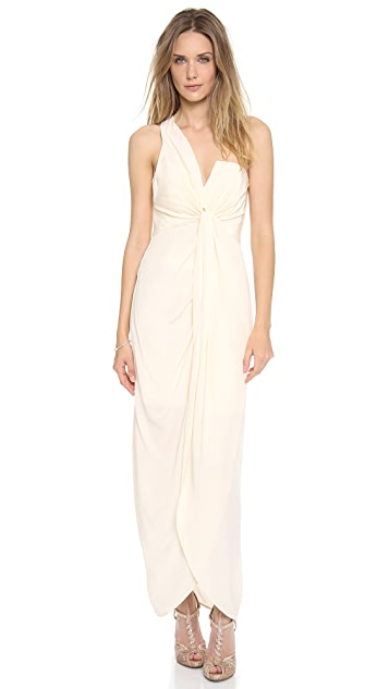 Zimmermann One Shoulder Knot Gown
