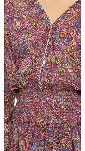 Zimmermann Instinct Shirred Cover Up Dress