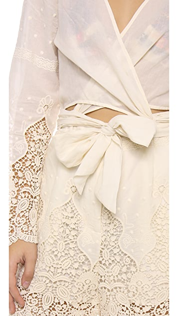 Zimmermann Keeper Embroidered Romper