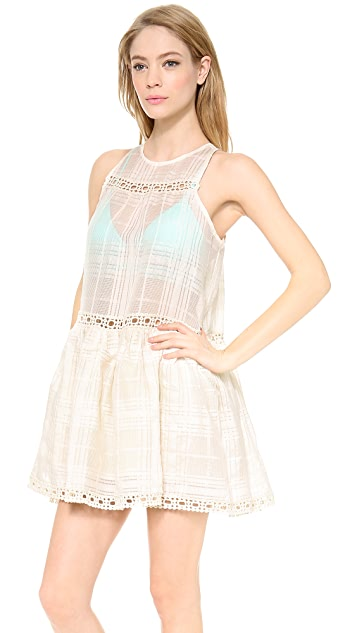 Zimmermann Verano Crosshatch Cover Up Dress