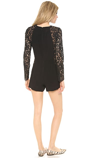 Zimmermann Crepe Lace Panel Romper
