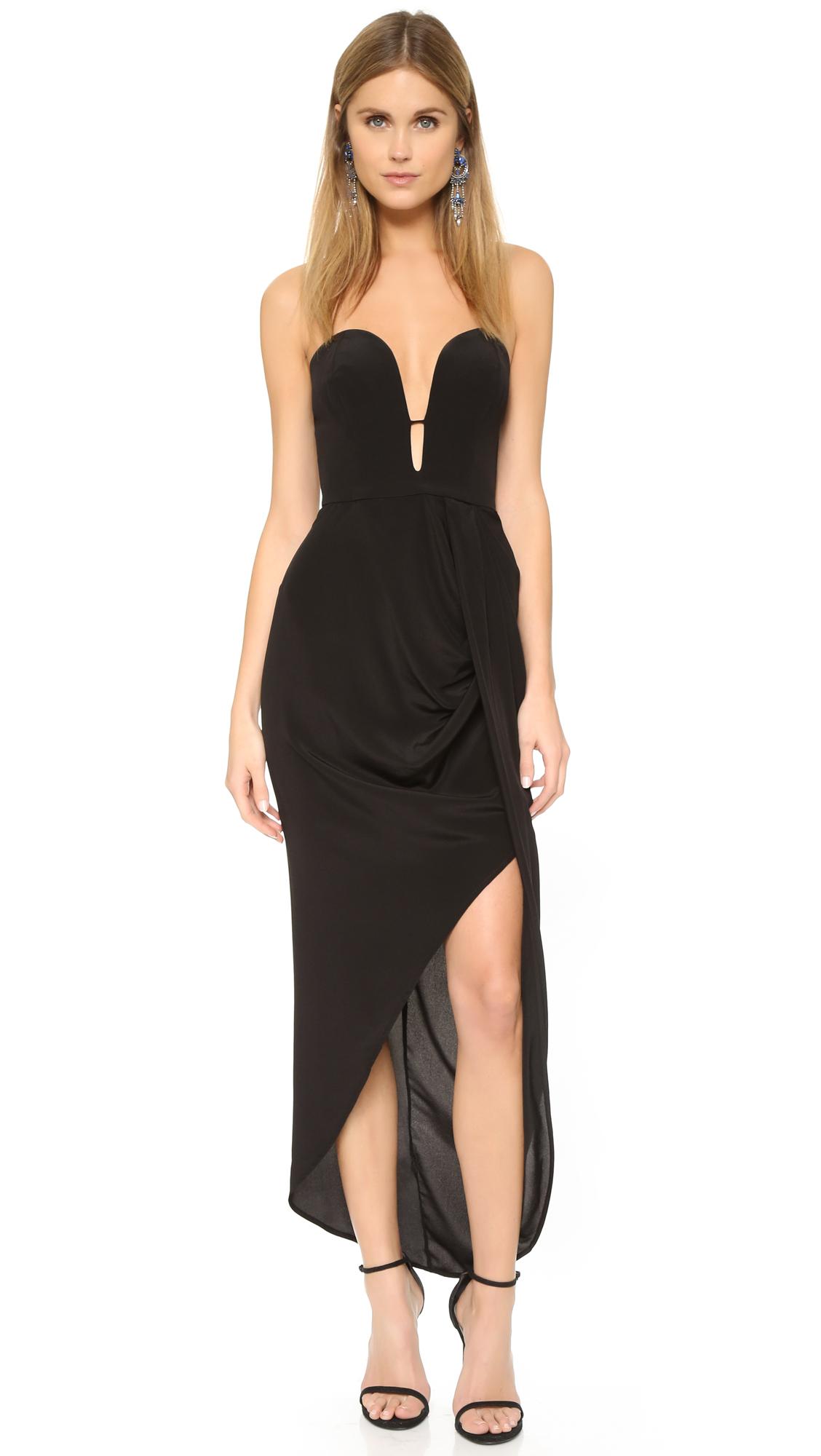 zimmermann female zimmermann silk curve long dress black